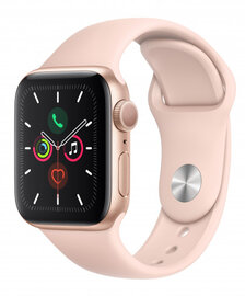 Smart-saat Apple Watch Series 5 40mm Gold Aluminum Case with Pink Sand Sport Band